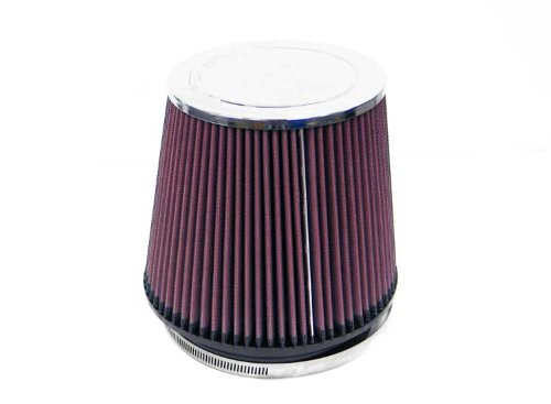K&N RF-1014 Universal Clamp-On Air Filter: Round Tapered; 6 in (152 mm) Flange ID; 6.5 in (165 mm) Height; 7.5 in (191 mm) Base; 5.875 in (149 mm) Top