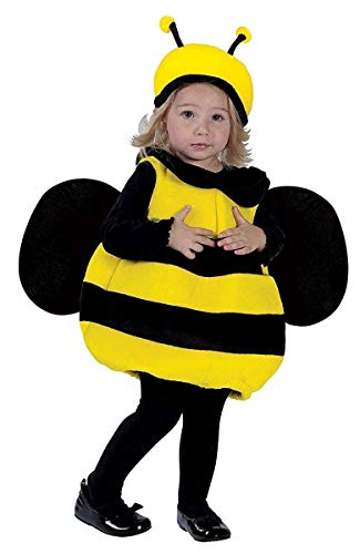 Fun World Costumes Baby Girl's Infant Bumble Bee Costume, Yellow/Black, One Size -