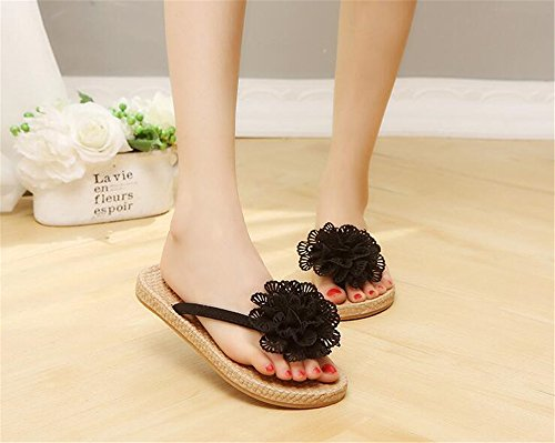for Home Shower House Walking Queena Slippers Casual Wheeler Women Beach Sandals Shoes Support Slide Black 8qCAwR