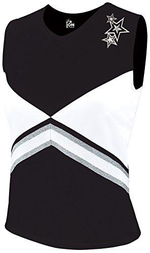 - Revolution Cheer Uniform Shell Top - Black X-Small