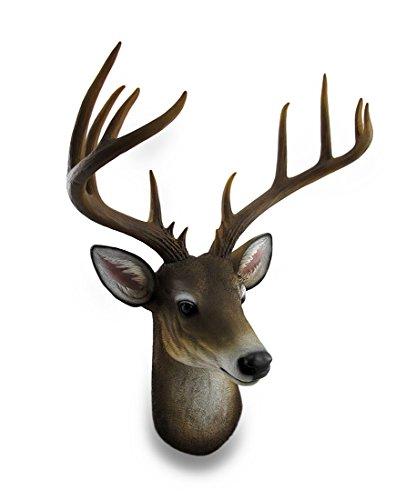 Zeckos 12 Point Buck Deer Head Bust Wall Hanging
