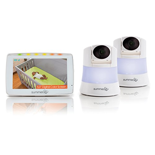 Summer Infant Wide View 2.0 Duo Baby Video Monitor with 5-inch Screen...