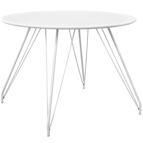 Modway EEI-2673-WHI-SET Satellite Circular Dining Table, White 41Ax lR4taL