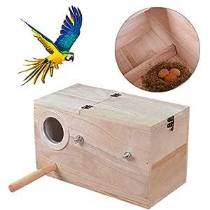 navigatee Periquito Nest Box, Bird House Budgie Wood Criadero para ...