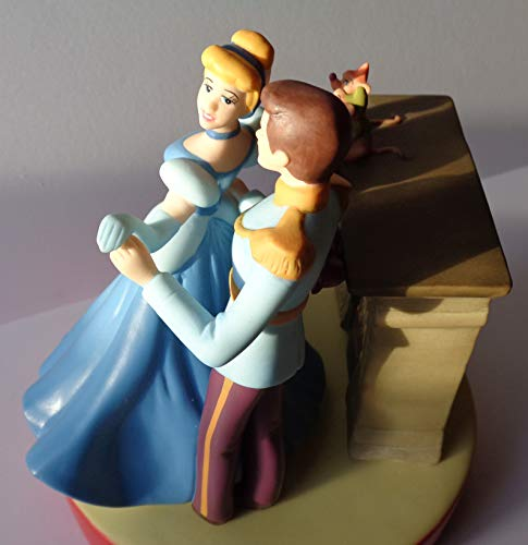Disney's Cinderella 50th Anniversary A Dream is A Wish Your Heart Makes 6.5 Inch Vintage Collectible Porcelain Figurine