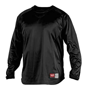 Rawlings Men's Dugout Fleece Pullover (Black, Small)