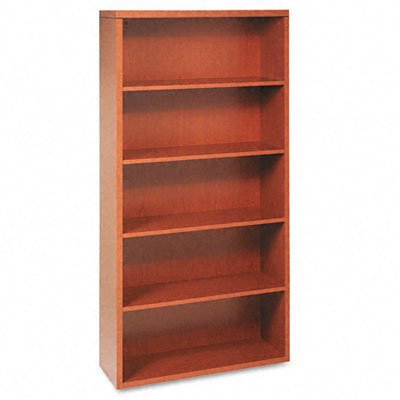 HON Valido 11500 Series Bookcase, 5 Shelves, 36 W by 13-1/8 D by 71 H, Bourbon - Bookcase Hon Cherry