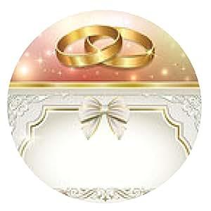alfombrilla de ratón postal romántica para el día de la boda - ronda - 20cm