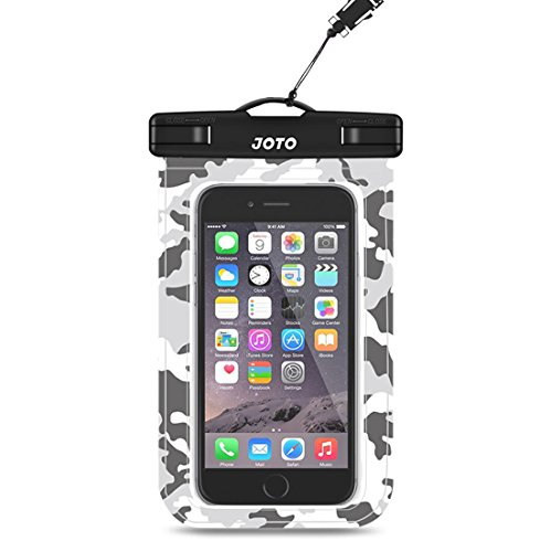 JOTO Universal Waterproof Pouch Cellphone Dry Bag Case for iPhone 11 Pro Max XS Max XR XS X 8 7 6S Plus, Galaxy S10 Plus S10e S9 Plus S8 + Note 10+ 10 9 8, Pixel 3 XL Pixel 3 2 up to 6.8 -Grey Camo