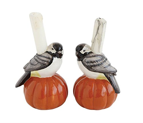Heart of America 2 Assorted Styles Thanksgiving Holiday Ceramic Bird Taper Holders On Pumpkins - 6 Pieces by Heart of America (Image #3)