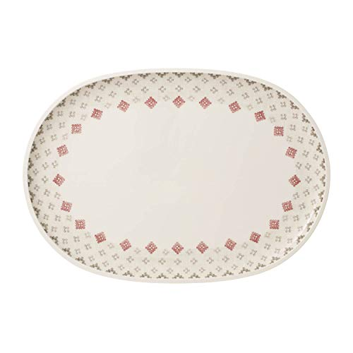 Artesano Montagne Oval Serving Plate by Villeroy & Boch - Premium Porcelain - Made in Germany - Dishwasher and Microwave Safe - 17 x 11.75 - Villeroy & Boch Microwave Safe Plates