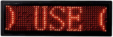 Andifany Programmable Led Digital Scrolling Message Namensschild-Id-Abzeichen (12 X 48) (Rot)