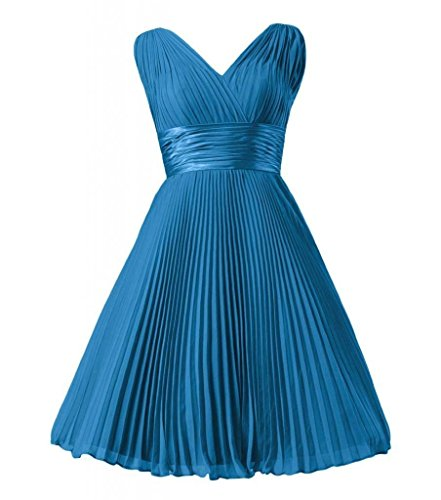 Daisyformals Courte Robe De Soirée Robe De Demoiselle D'honneur En Mousseline De Soie Vintage (bm3171) # 37 Bleu Royal