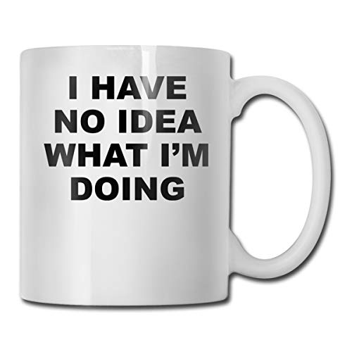 Riokk Az I Have No Idea What I'm Doing 11oz Coffee Mugs Funny Cup Tea Cup Birthday Ceramic