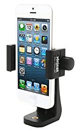 Vonjean Universal Smartphone Tripod Adapter | for iPhone 6/6s/7 6 plus/6s plus/7 plus, Samsung Galaxy/Galaxy Note, all Phones | Rotates Vertical and Horizontal | Adjustable Clamp (Black)