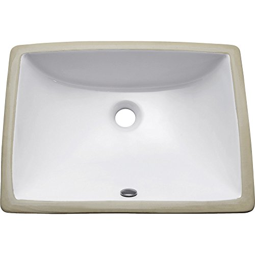 Console Sinks Bone Vitreous China (Undermount 20 in. Rectangular Vitreous China Sink in White)