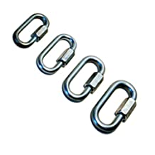 Safe-T Chain Link Chain Connector Secure Hook-Ups Safety Chain Link Connector , 3/8, Galvanized, Bu