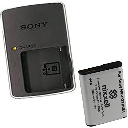 Sony BC-CSG Charger for Sony NP-BG1 NP-FG1 Battery Cyber-shot DSC-H7,DSC-H9,DSC-H20,DSC-H50,DSC-H55,DSC-H70,DSC-H90,DSC-HX7V,DSC-HX9V,DSC-HX10V,DSC-HX20V,DSC-HX30V Digital Cameras + 1 Bonus Battery