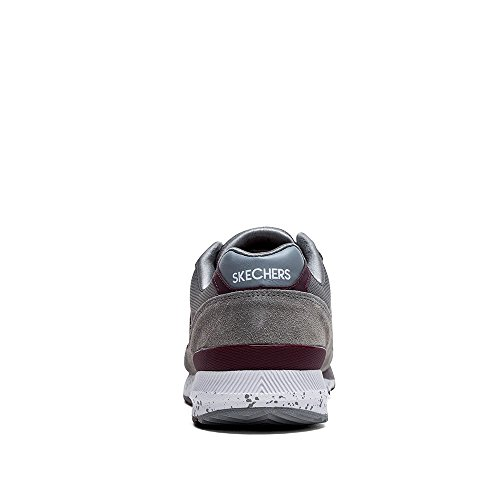 90 Burgundy Skechers Men's Gray OG Fashion Sneaker Originals Retros wxq7nIU8zq