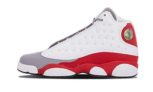 Jordan Air 13 Retro BG Lifestyle Mode Kinder Sneaker Weiß / Schwarz-Zement Grau-echt Rot