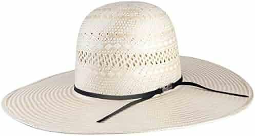 ed35dd19 NRS American Hat Company Mens Poli Rope Tan Natural Straw 5 Brim Open Crown  Cowboy Hat