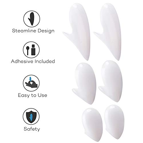COTEY Halloween Vampire Teeth with Adhesive - Retractable Vampire Fangs for Kids and Adults, Halloween Costume Novelty Monster Teeth, Easy to Apply and Remove