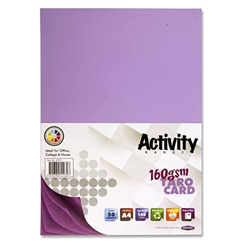 Premier Stationery S4552707 A4 160 gsm Activity Card - Taro (Pack of 50 Sheets)
