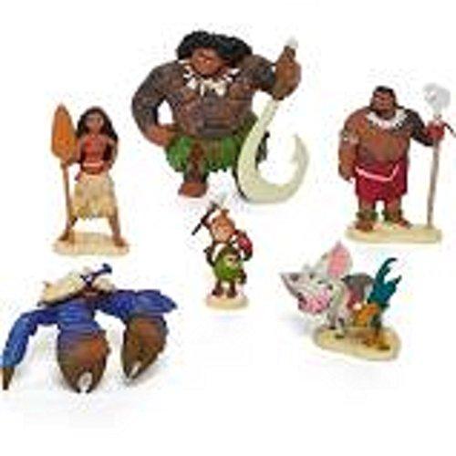 7 Piece Pvc Figure (Disney Collection Moana Figurine Set ~ 6 piece)