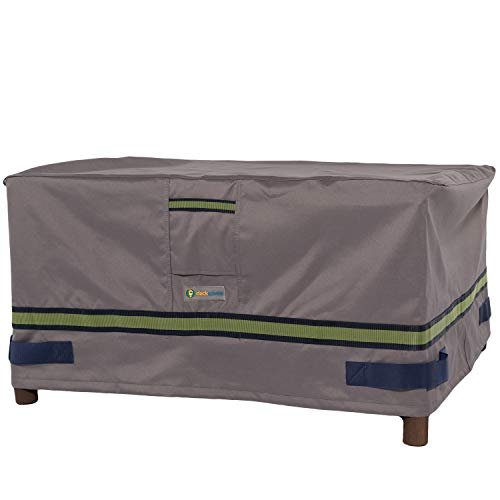 "Duck Covers Soteria Rainproof 40"" Rectangular Patio Ottoman/Side Table Cover"