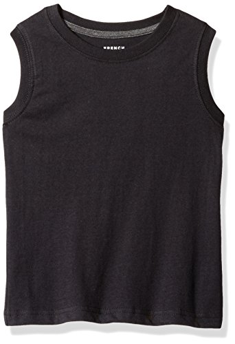 French Toast Toddler Boys' Muscle Tee, Black, 3T (Black Muscle)