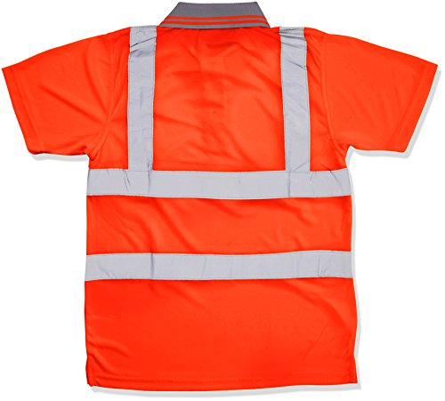 SuperTouch &Quot;Bird Eye Hi Vis Polo Shirt Top–Orange