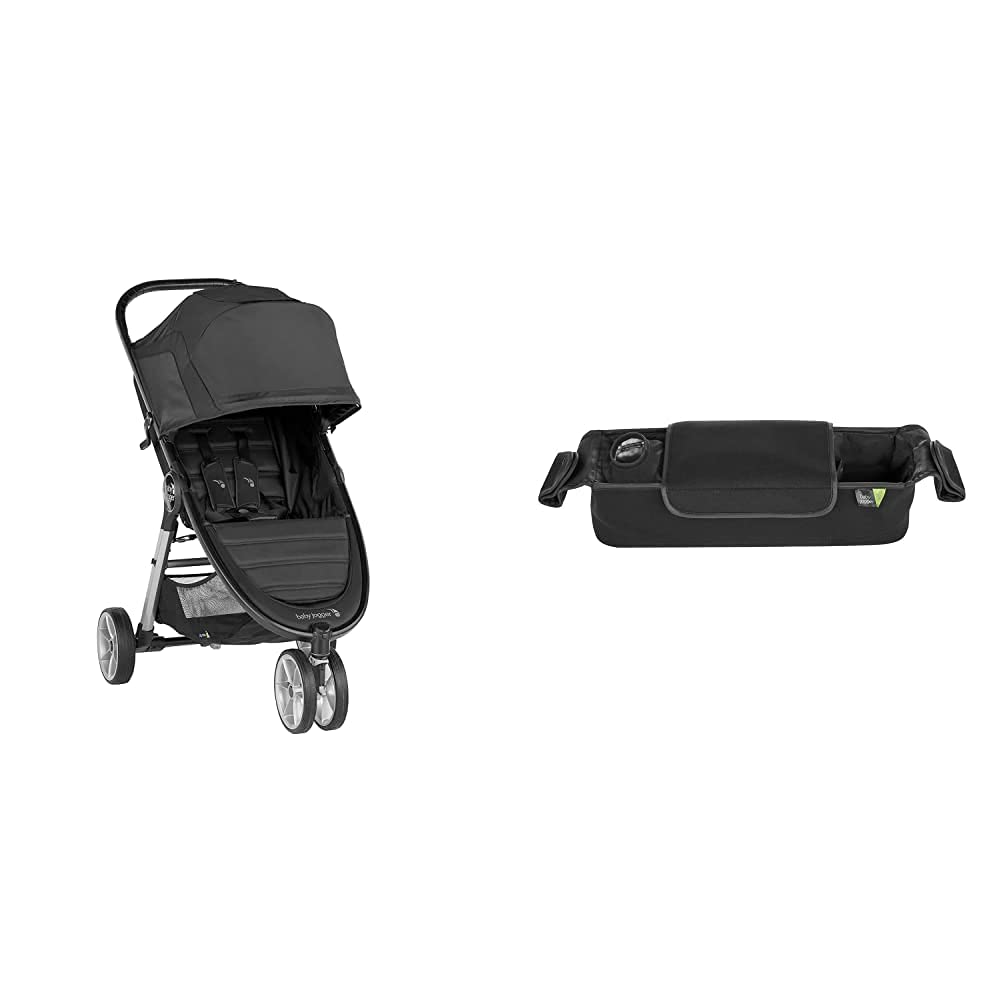Baby Jogger City Mini 2 Stroller - 2019 | Compact, Lightweight Stroller | Quick Fold Baby Stroller, with Baby Jogger Parent Stroller Console, Black