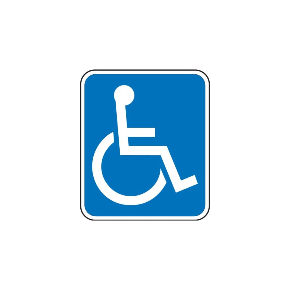 Accuform Signs FRA194RA Engineer Grade Reflective Aluminum Handicapped Parking Sign (Florida), Legend (WHEELCHAIR SYMBOL), 14 Length x 12 Width x 0.080 Thickness, White on Blue