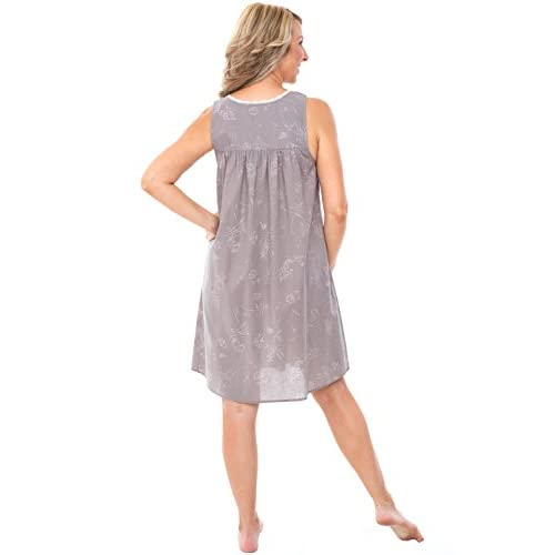 Alexander Del Rossa Womens 100% Cotton Lawn Nightgown 1aa19b161