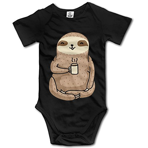 Coffee Sloth Baby Rompers Short Sleeve Baby Newborn
