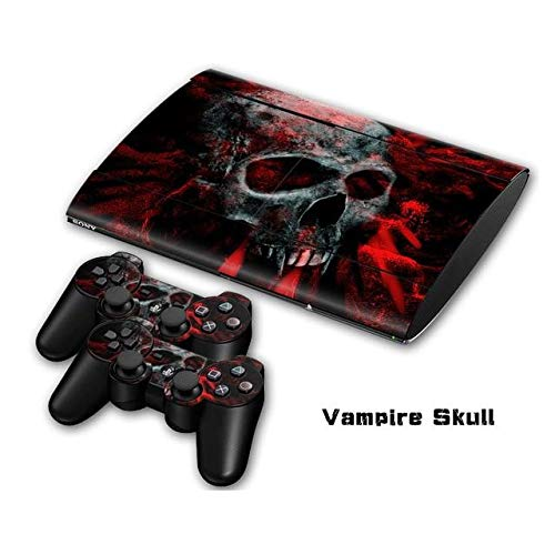Skin Sticker - Bomb Vinyl Decal Skin Sticker for PS3 Super Slim 4000 Console Skins+2PCS Stickers for PS3 Controller Joystick Gampad Vinyl Skin for PS4 Slim Skin, PS4 Pro Skin, Ps4 Skin Sticker A815