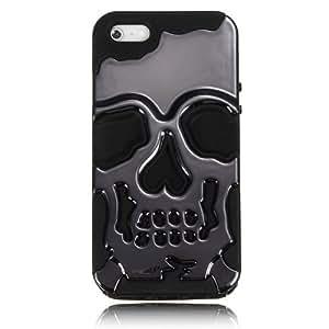 Hybrid Skull Skeleton Bone Hard Soft Silicone Case Cover for Apple iPhone5 5S