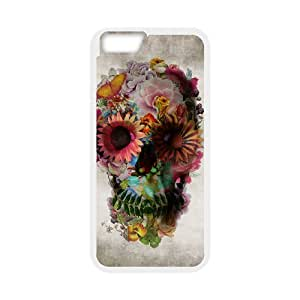 "YAYADE Phone Case Of cool Floral Skulls For iPhone 6 (4.7"")"