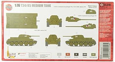 Airfix A01316 T34 Tank Model Building Kit, 1:76 Scale