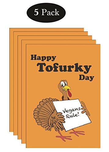 Aka Card (Vegan Tofurkey Day Card (Pack of 5) - Vegan Tofu Thanksgiving Card aka Tofurky Deva Vegan)