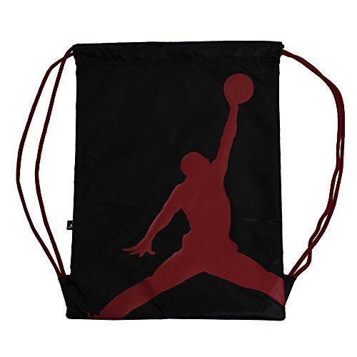 finest selection 166a7 e2295 Galleon - Nike Air Jordan Jumpman ISO Gym Sack (Black Gym Red)