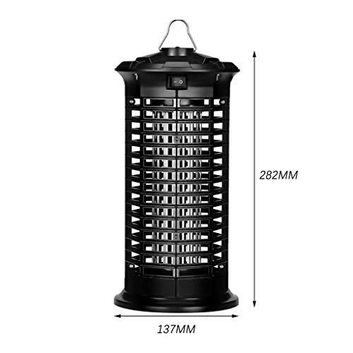 Smemek Zanzara elettrica Lampada a zanzara UV Lampada a trappola per mosche elettrica Zanzara per interni per contrastare le zanzare Mosche Falene (nero, A)