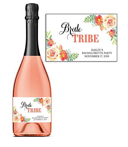 bride-tribe-set-of-8-custom-bachelorette-party-mini-champagne-labels-here-comes-the-bride-bridal-sho