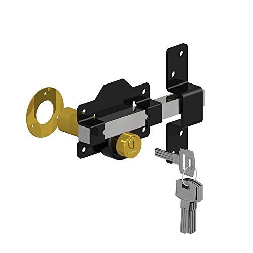 Gatemate 70mm Long Throw Gate Lock Double Locking 5 Keys Stainless Steel Gatemate 1490196