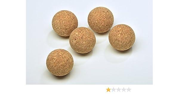 acerto 31739 5X Bolas de Corcho Hechas de Corcho 100% Natural - 50mm * Libre de sustancias dañinas * Extremadamente versátil * Lavable | la Bola de Corcho Puede ser ...