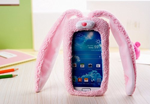 pink 3D Cute funny rabbit Cool Plush Toy Doll Cover Case For Smart Mobile Phones(ZTE Boost Max N9520 Max+ N9521) (Boost Mobile N9520 Phone Case)