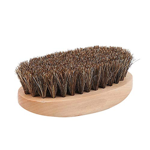 HenryDong Grooming Brush for Horses, Soft Bristle Comb with Natural Woodback Body, Harmless Face and Body Comb Without Pain, Hair Removal and Massage