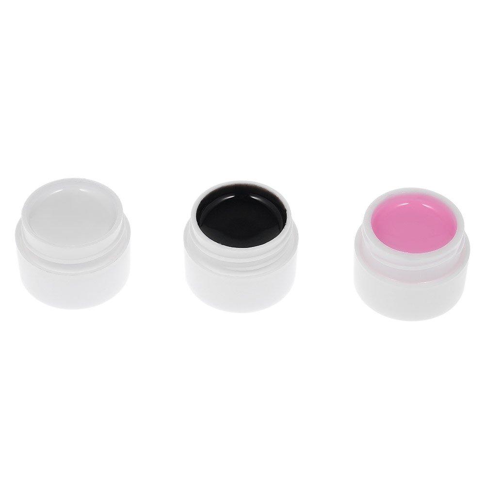Anself 3PCS UV Nail Polish Glue Nail Art Pigment Set UV Gel Polish Solid Glue W5767-1-Z3ABLW