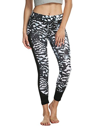 Ekouaer Printed Fitness Workout Leggings