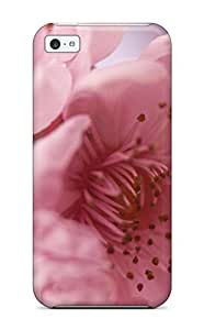 New Pretty Pink Flowers Photo Tpu Case Cover, Anti-scratch SltNtVm4641zTBMe Phone Case For Iphone 5c